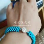 小扁松石编珠手链
