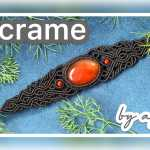 Macrame 手链红玛瑙复古手链编织视频教程