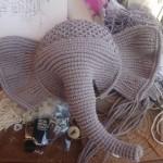寻找编织厂家合作。这是我做的大象。