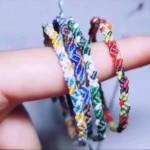 简单手绳编织款式,绿森林手绳做法
