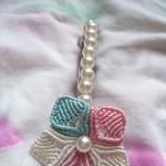 五瓣花珍珠发卡