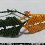 菊叶手绳编织教程--科科手工 绳结教程