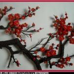 用结艺编的梅花部分放大图片