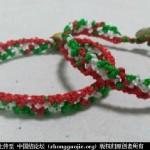 圣诞风三色手绳编织教程-- 绳结教程