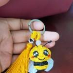 小蜜蜂钥匙链(学自萌萌的小胖鲸老师的教程)