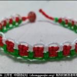 圣诞风交错平结手绳编织教程-- 绳结教程 视频教程