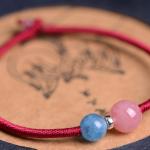 编绳 手工红绳编织招桃花链