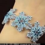 雪冻花手镯手绳手链视频教程