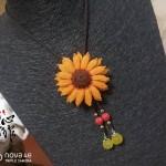 向日葵胸针,波洛领带两用
