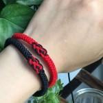 【编绳】简单百搭情侣手绳编织 本命年简约好看的情侣手链编法