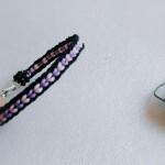 方盘编器编织手链教程,紫色银尾手绳视频