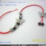 一款简单漂亮的中国结脚链,也可编手链哦!