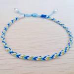 蓝色+白色,充满夏天气息的八股手绳~