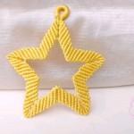 五角星编绳挂饰做法