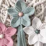 Macramé编织五瓣花