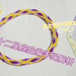 十二星座手绳视频教程解析 使用盘编器方法