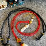 项链绳改造完毕,手磨个泡,手工不易