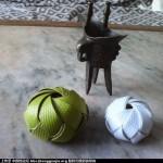 打包带编织柿子、太阳花、太极球
