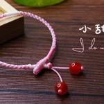粉白可爱的手绳【小甜月】详细视频教程 很甜美的粉色系