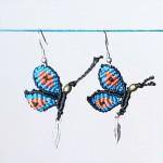编绳蝴蝶耳环视频教程,简单好看中国结饰品