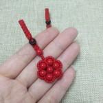 朱砂珠,一根绳编钥匙扣,七星阵
