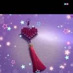爱心串珠挂饰