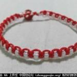 圣诞风双线雀头结手绳编织教程-- 绳结教程