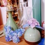 蓝蝴蝶钩织项链