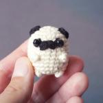 编织教程-拇指袖珍小奶狗,可做胸针(材料尺寸见简介)