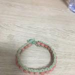 黄玉髓红纹石手链