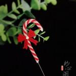 圣诞拐杖胸针