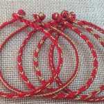 八股辫红绳手链视频教程