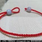 垂珠-可调式本命年红绳-- 绳结教程