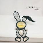 卷毛兔胸针
