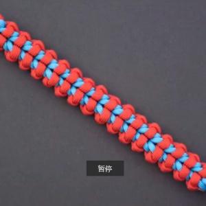 伞绳编手链-男款手链-红蓝手链编法-手链大全