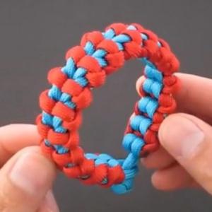 伞绳编手链-红绳手链编法视频 -新手视频-男款手链教程