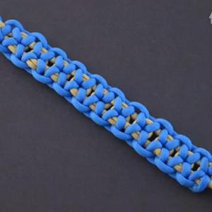 伞绳编手链-深蓝手链编法