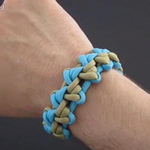 编绳手链教程-伞绳编手链教程-编法图解