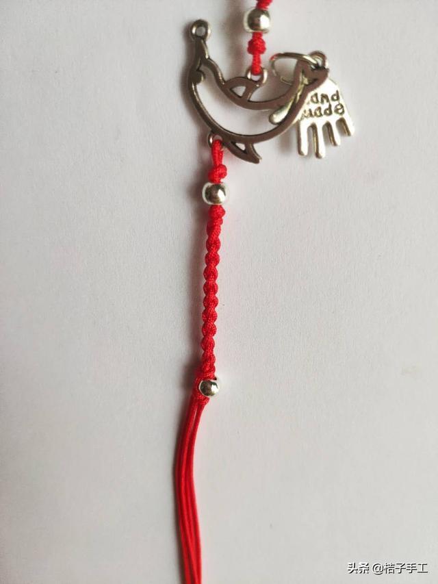 银饰小红绳手链脚链图文教程