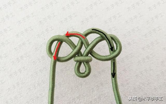漂亮的绕线花结项链绳的编法图解