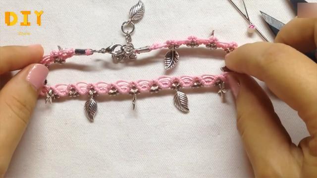 绳编DIY,脚链的编织过程,新手也能很快学会(图解)
