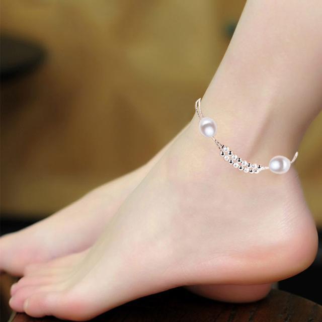 气质甜美,简约女士脚链