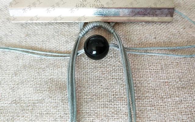 玛瑙项链吊坠编织图解