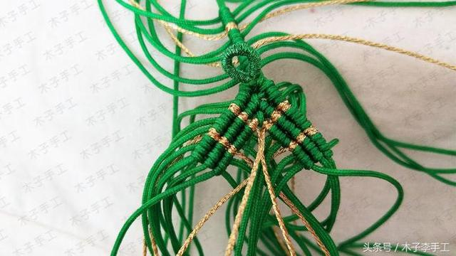 端午节之粽子挂饰的编法图解