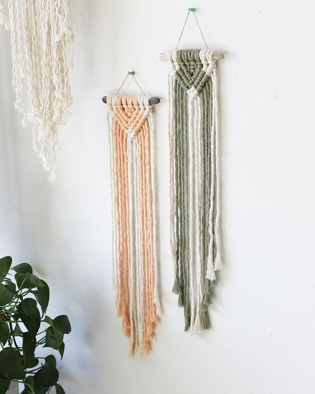 清新脱俗的手工编绳挂饰,爱了