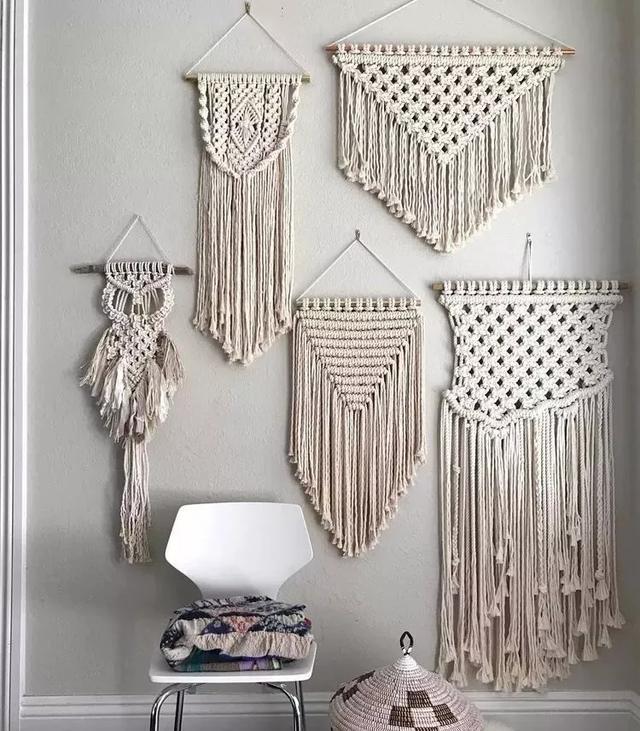 闲在家没事?可用几根棉绳,亲手编织出ins风挂饰,简单又有范