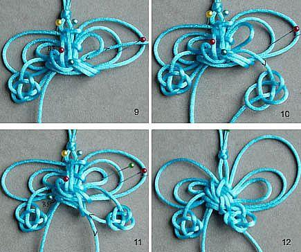 绳编蝴蝶挂饰DIY教程,要是送给仙女们,肯定会喜欢!收藏