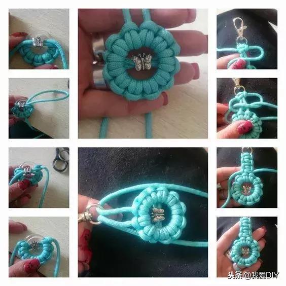 手工绳编小挂件,用几根绳子打造起来,有用又好看!附教程