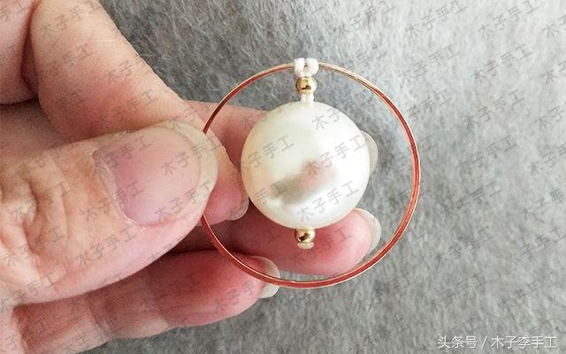 简单的铜圈挂饰的编法图解