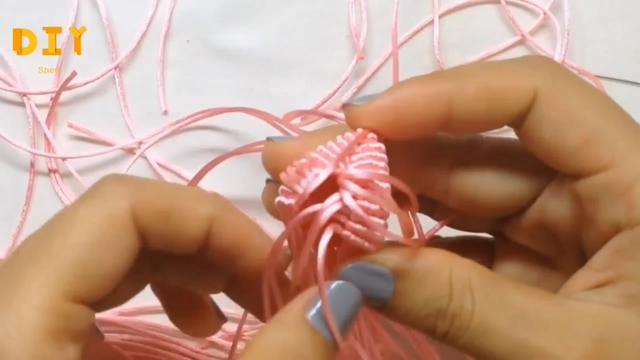 「手工编织系列」可爱兔子挂件的编织方法(步骤3-2)